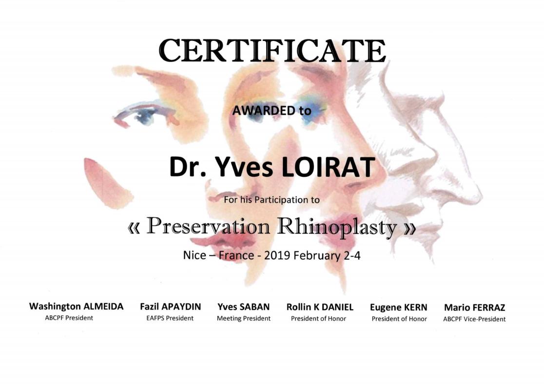 certificat dr loirat